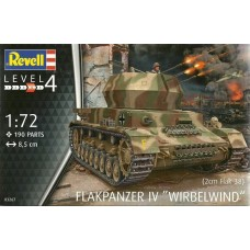 "Revell Germany 1:72 FLAKPANZER IV ""WIRBELWIND"" Plastic Model Kit"