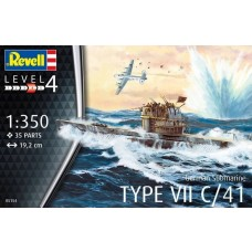 Revell Germany 1:350 German Sub Type VII Plastic Model Kit