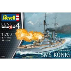 Revell Germany 1:700 WWI SMS Koenig Plastic Model Kit