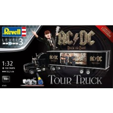 Revell Germany 1:32 AC/DC Tour Truck and Trailer Plastic Model Kit