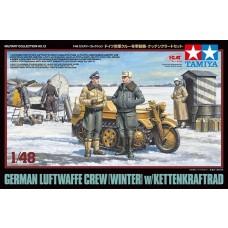 Tamiya 1/48 German Luftwaffe Crew (Winter) w/Kettenkraftrad Plastic Model Kit