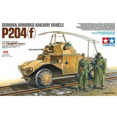 Tamiya 1:35 German Armored Railway Vehicle P204 Plastic Model Kit