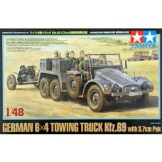 Tamiya 1/48 6x4 Truck Kfz w/3.7cm Pak Plastic Model Kit