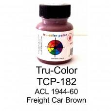 Tru-Color ACL 1944-1960s Freight Car Brown 1oz Paint Bottle