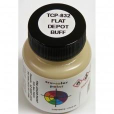 Tru-Color Flat Brushable Depot Buff Paint Bottle