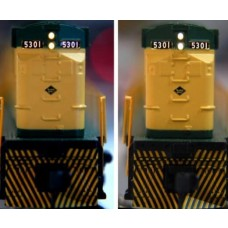 Train Control Systems 3mm Diameter LED 10-Pack Golden White