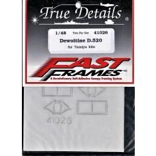 True Details 1:48 Fast Frames D.520 Detail Parts Set