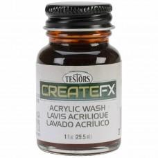 Testors FX Acrylic Stain Redwood 1 oz Paint Bottle
