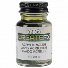 Testor FX Acrylic Stain Olive Green 1 oz Paint Bottle