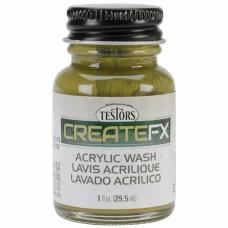 Testors FX Acrylic Stain Pine 1 oz Paint Bottle