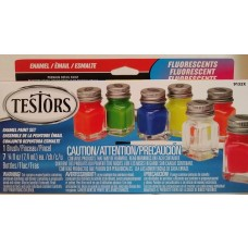 Testors Fluorescent Enamel Paint Set