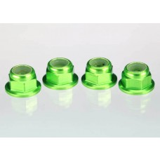 Traxxas 4mm Green Aluminum Wheel Lock Nuts