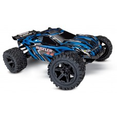 Traxxas Rustler 4X4 Truck Brushed Blue w/Battery