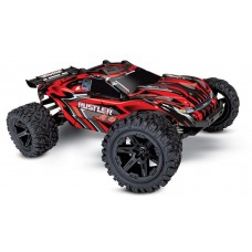Traxxas Rustler 4X4 Truck Brushed Red w/Battery