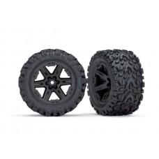 Traxxas Rustler 4x4 Mounted RXT Black Wheels / Talon Extreme Tires