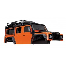 Traxxas TRX-4 Land Rover Defender Orange Painted Body