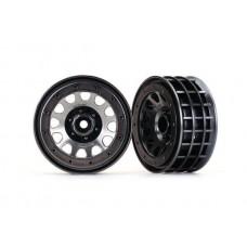 "Traxxas TRX-4 Method 105 2.2"" Beadlock Black Chrome Wheels (2)"