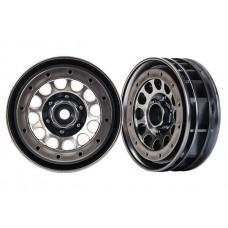 "Traxxas TRX-4 Methoad 105 1.9"" Beadlock Black Chrome Wheels (2)"