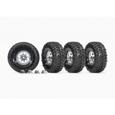 "Traxxas 1.9"" Custom 8 Hole Mag Wheels Mounted (4)"