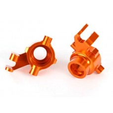 Traxxas Maxx Left & Right Orange Aluminum Steering Blocks 8937A