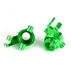 Traxxas Maxx Left & Right Green Aluminum Steering Blocks 8937G