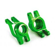 Traxxas Maxx Left & Right Green Aluminum Stub Axle Carriers 8952G