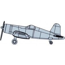 Trumpeter 1:350 F4U-4 Corsair Painted Plastic Model Kit