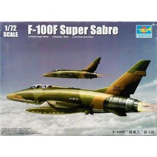 Trumpeter 1/72 F-100F Super Sabre Fighter Plastic Model Kit