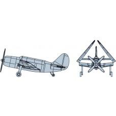 Trumpeter 1:350 SB2C Helldiver Painted Plastic Model Kit