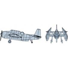 Trumpeter 1:350 TBF Avenger Painted Plastic Model Kit