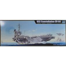 Trumpeter 1/700 USS Constellation CV64 Aircraft Carrier Plastic Model Kit