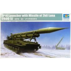 Trumpeter 1/35 Soviet 2P16 Launcher w/2K6 Luna (FROG5) Missile Plastic Model Kit