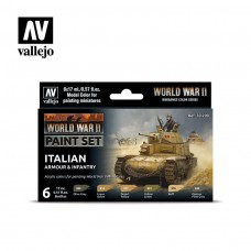 Vallejo WWII Italian Armor and Infantry Paint Set