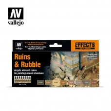 Vallejo 17ml Bottle Ruins and Rubble Effects Model Air Paint Set
