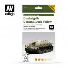 Vallejo AFV Dunkelgelb Paint Set