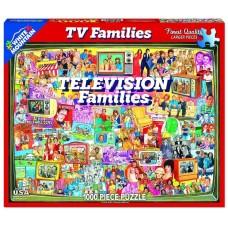 White Mountain Puzzles Television Families 1000 Piece Puzzle 1124PZ