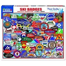 White Mountain Puzzles Ski Badges 1000 Piece Puzzle 1191PZ