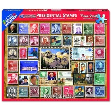 White Mountain Puzzles Presidential Stamps 1000 Piece Puzzle 1243PZ