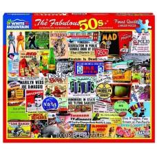 White Mountain Puzzles The Fabulous 50's 1000 Piece Puzzle 1281PZ