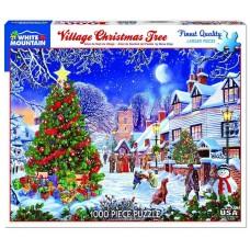 White Mountain Puzzles Village Christmas Tree 1000 Piece Puzzle 1287PZ