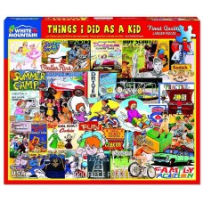 White Mountain Puzzles Things I Did As A Kid 1000 Piece Puzzle 1319PZ