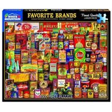 White Mountain Puzzles Favorite Brands 1000 Piece Puzzle 1329PZ