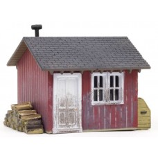 Woodland Scenics HO Scale Built Up Work Shed BR5057