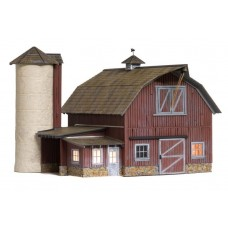 Woodland Scenics O Scale Built Up Old Weathered Barn BR5865