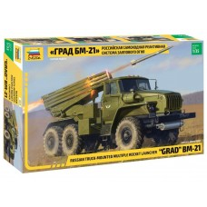 Zvezda 1/35 BM21Grad Rocket Launcher Plastic Model Kit
