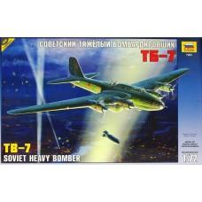 Zvezda 1/72 Soviet TB7 Heavy Bomber Plastic Model Kit