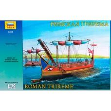 Zvezda 1:72 Roman Trireme Ship Plastic Model Kit
