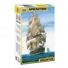 Zvezda 1:100 Brigantine Plastic Model Kit