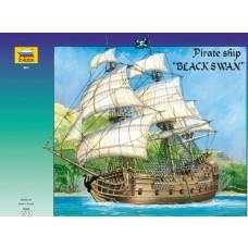 """ZVEZDA 1/72 Pirate Ship """"Black Swan"""" Plastic Model Kit"""
