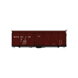 Accurail HO Scale Fowler 36' Wood Boxcar Rock Island (Boxcar Red)